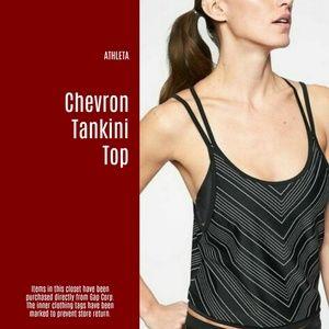 NWT Athleta Chevron Tankini Top (P20)